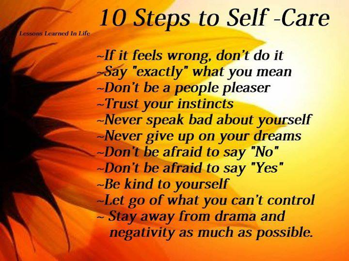 10 Steps to Self Care